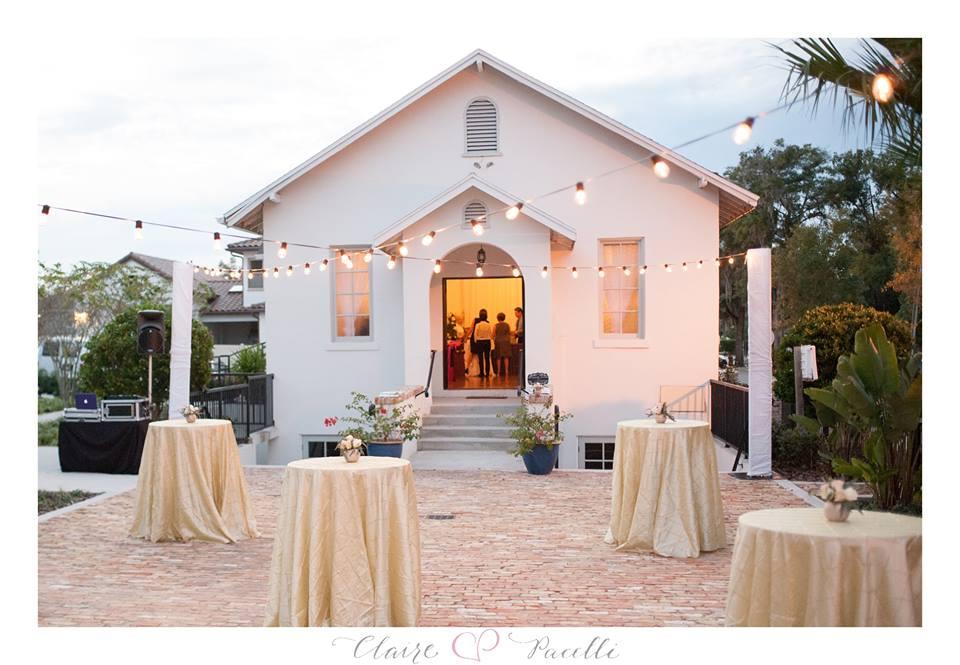market lights winter park wedding chapel bridal event