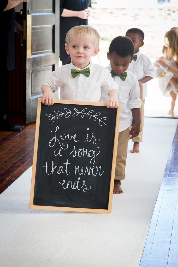 here comes the bride, rustic wedding, winter park wedding chapel, chalkboard signs