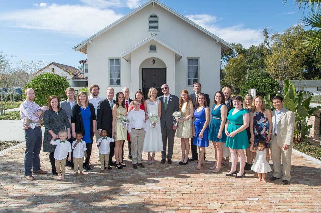 winter park wedding chapel, winter park florida, family