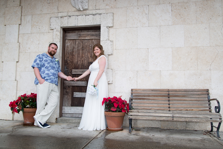 Florida destination wedding, romantic photos, newlyweds