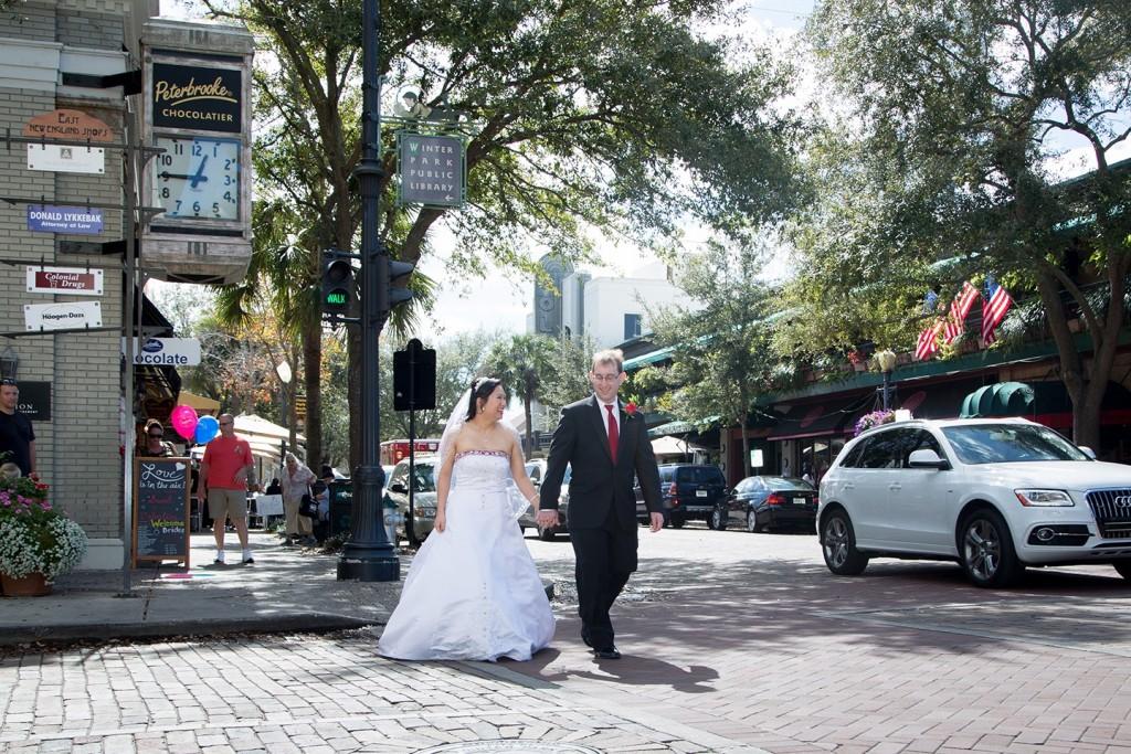 Park Avenue Florida makes for a beautiful wedding backdrop