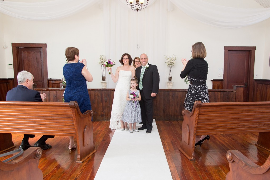 Just married in the Winter Park wedding chapel.