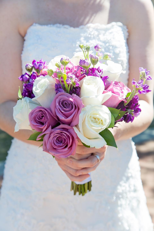 A seasonal bridal bouquet for this couple's Central Florida destination wedding
