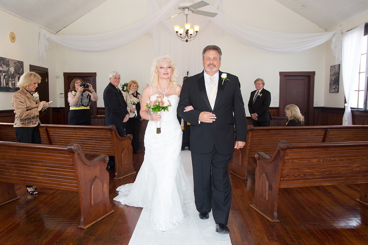 Wedding recessional at our central florida wedding venue