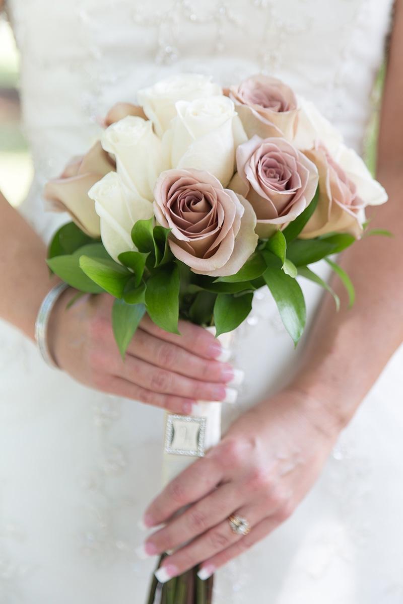 A beautiful bridal bouquet by Winter Park Florist for a Florida destination wedding.
