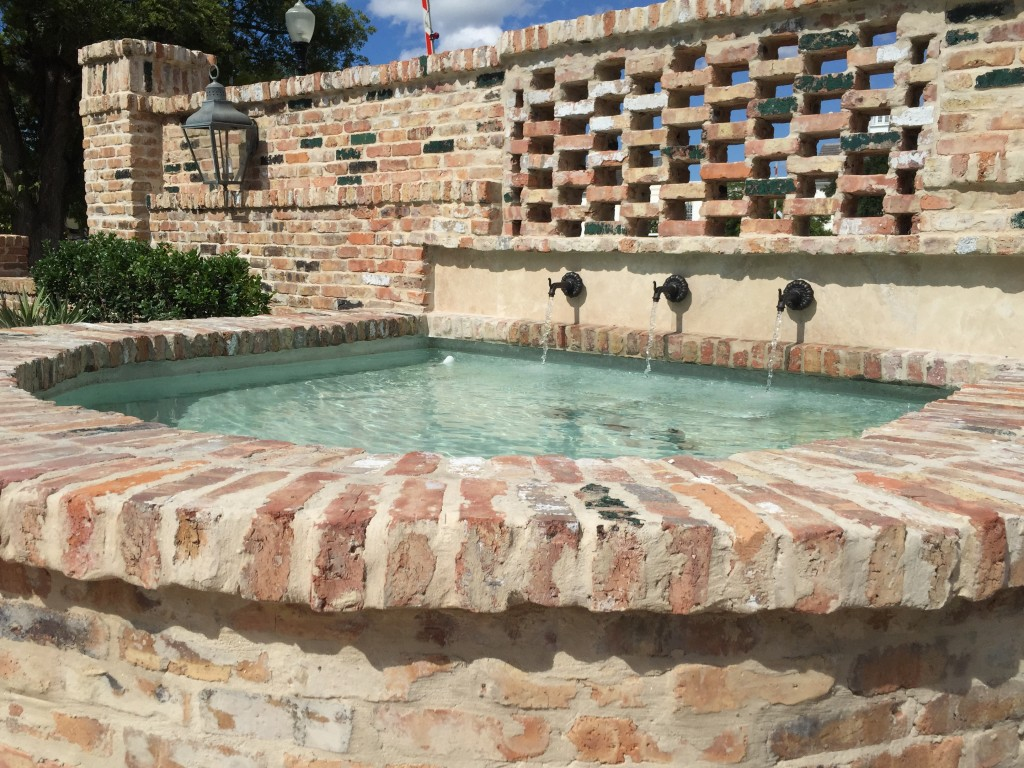 Winter Park Wedding Chapel's new fountain in the courtyard, newlywed wishes, new life together, fairytale