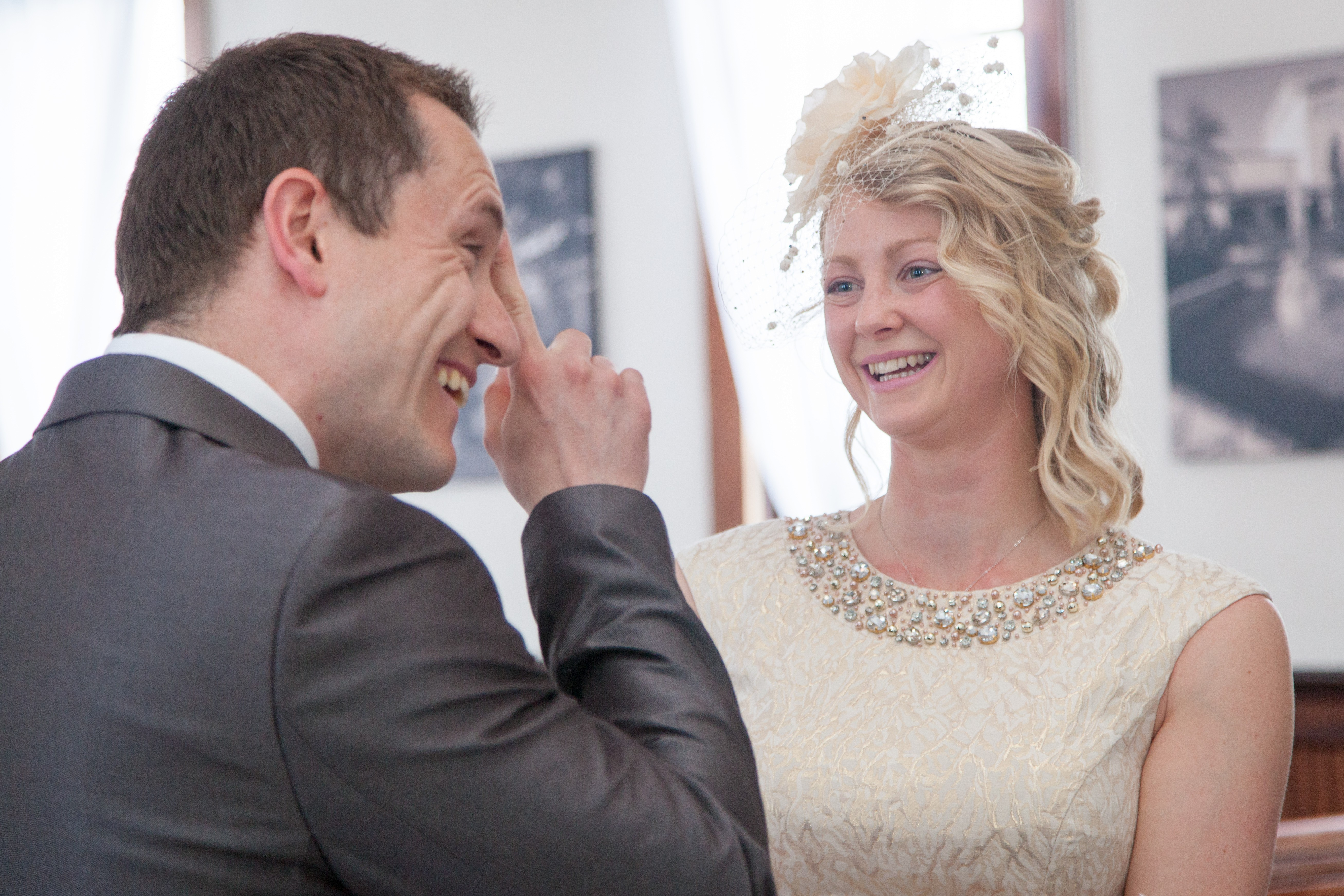 Sweet vows and laughter