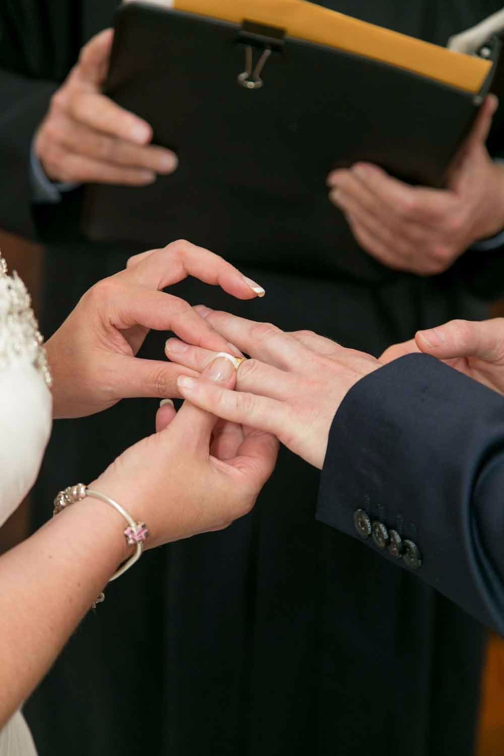 Exchanging rings at the Winter Park Wedding Chapel